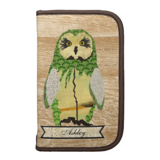 Gypsy Jade Owl Personalized  Planner