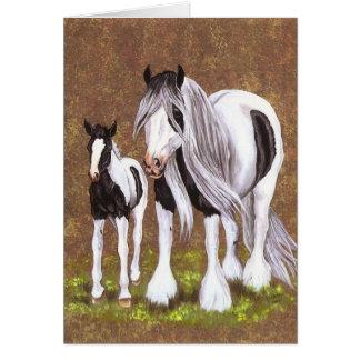 Gypsy Mare & Foal Greeting Card