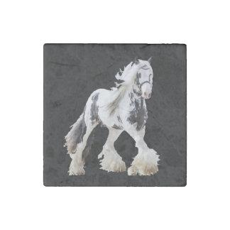 Gypsy Mare Stallion Draft Horse Stone Magnet