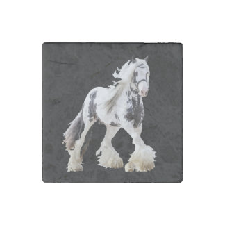 Gypsy Mare Stallion Draught   Horse Stone Magnet