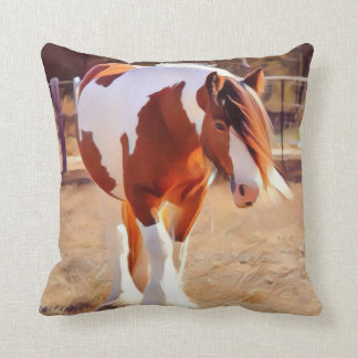 Gypsy Mare Throw Pillow