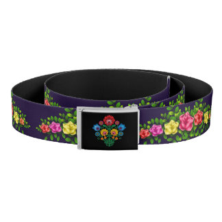 Gypsy Midnight Floral Belt
