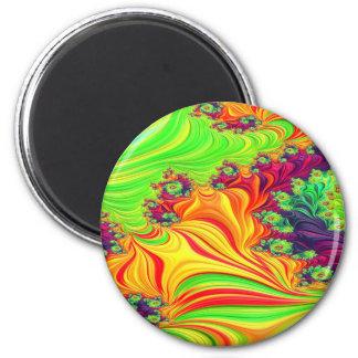 Gypsy Moire Fractal 2 Magnet
