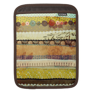 Gypsy Patchwork Rickshaw Sleeve, in Gold, Olive an iPad Sleeve