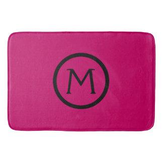 Gypsy Pink and Black Monogram Bath Mat