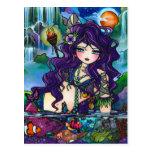 Gypsy Pirate Mermaid Fantasy Marine Art Postcard