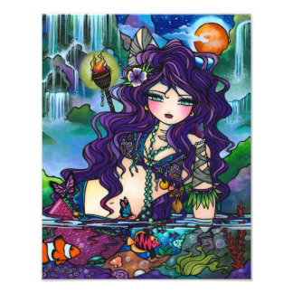 Gypsy Pirate Mermaid Tropical Fantasy Art Print Photographic Print