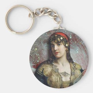 Gypsy Princess altered art Keychain