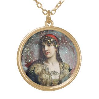 Gypsy Princess, an altered art pendant and choker