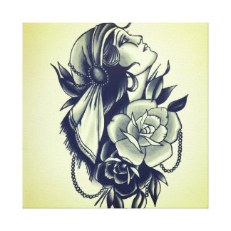 gypsy queen canvas print