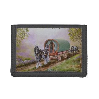 """""""Gypsy Road"""" vanner/cob horse caravan wagon Tri-fold Wallet"""