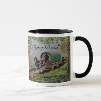 """Gypsy Road"" Vanner stallion horse caravan poem Mug"