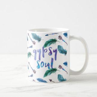 Gypsy Soul, Arrow and Feathers, Bohemian Mug