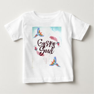 Gypsy Soul - Boho Tribal Hippy Heart Baby T-Shirt