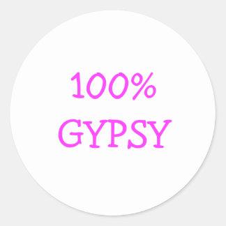 Gypsy stuff & TYSON FURY Classic Round Sticker