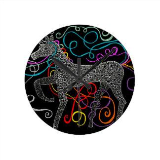 Gypsy the magic unicorn complete round clock