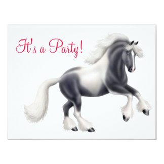 Gypsy Vanner Cob Horse Invitation