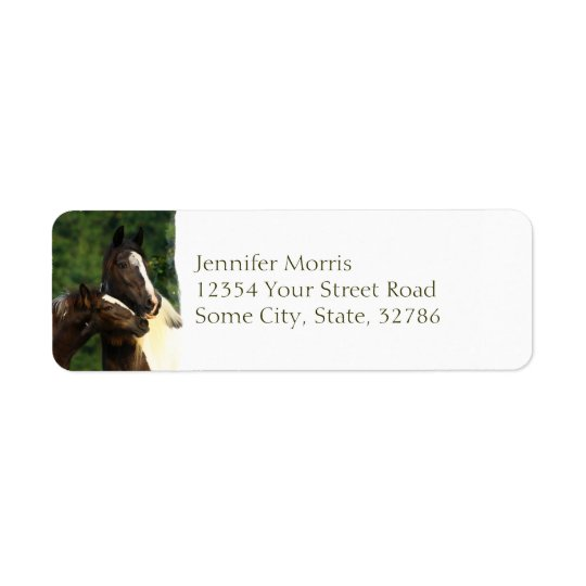 Gypsy Vanner Return Address Label