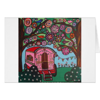 Gypsy Wagon Card