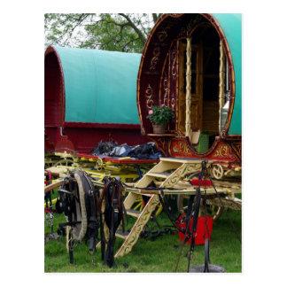 gypsy wagons postcard