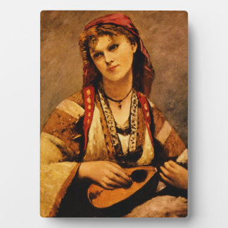 Gypsy With Mandolin Tabletop Photo Plaque