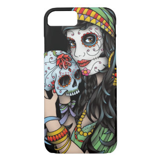 Gypsy Woman Day of the Dead iPhone 7 Case