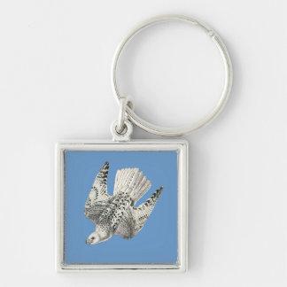 Gyrfalcon Falcon Diving Vintage Art Key Chain