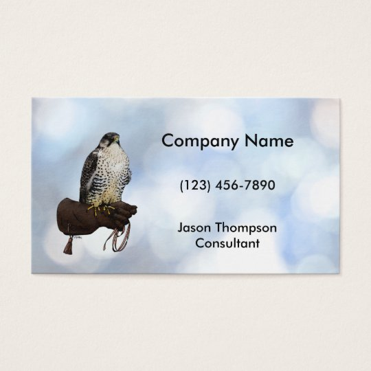 Gyrfalcon on Glove Business Card