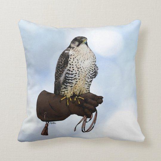 Gyrfalcon on Glove Cushion