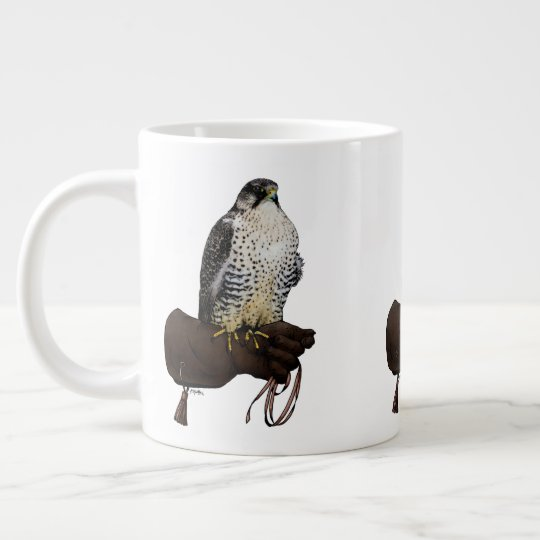 Gyrfalcon on Glove Large Coffee Mug