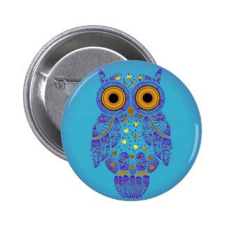 H00t Owl Blues Button