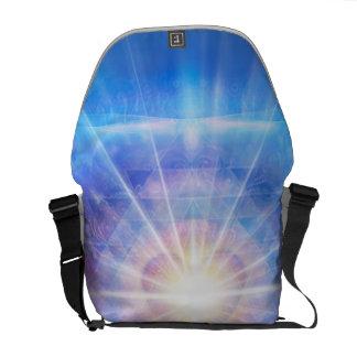 H016 Meditator Heart Blue Courier Bag