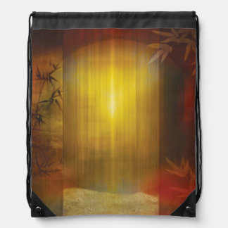 H017 Zen Screen Rust Drawstring Bag