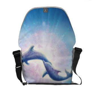 H019 Nori Dolphins Courier Bag