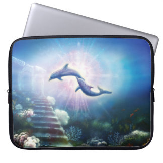 H019 Nori Dolphins Laptop Sleeve