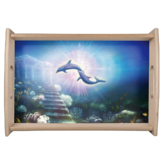 H019 Nori Dolphins Serving Tray