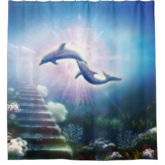 H019 Nori Dolphins Shower Curtain