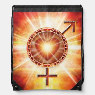 H020 Venus Mars Unite Drawstring Bag