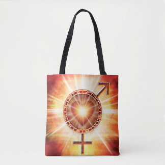 H020 Venus Mars Unite Tote Bag
