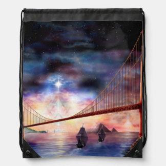 H024 Bridge to Truth Drawstring Bag