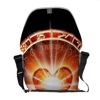 H025 Heart Logo Messenger Bags