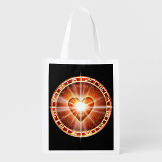H025 Heart Logo Reusable Grocery Bag