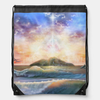 H026 Enchanted Isle Drawstring Bag