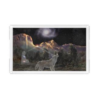 H029 Star Wolf Acrylic Tray
