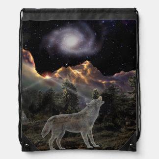 H029 Star Wolf Drawstring Bag