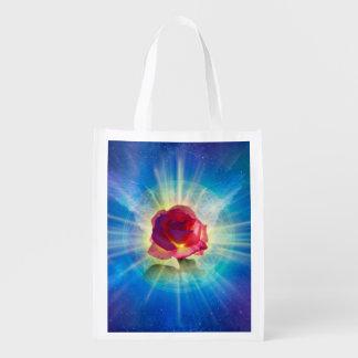 H035 Rose Wings Reusable Grocery Bag