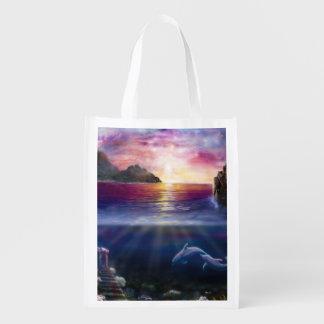 H037 Scorpio Sunset Reusable Grocery Bag