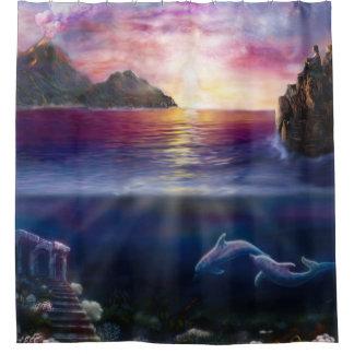 H037 Scorpio Sunset Shower Curtain