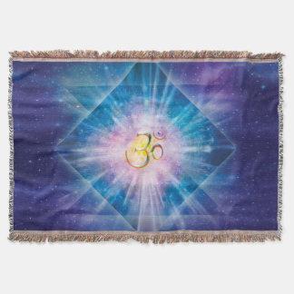 H039 Om Space Cube Throw Blanket