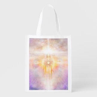 H041 Jesus Heart Reusable Grocery Bag